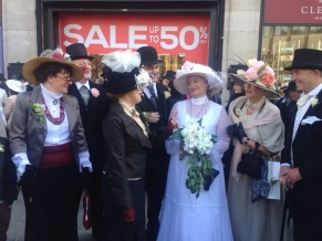 Actors in period costumes Easter Monday 2015
