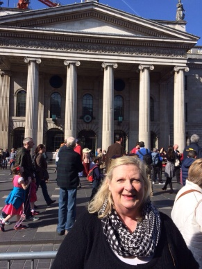 Marita outside GPO Easter Monday 2015