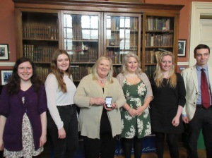 Marita and members of The Hist, Trinity College Dublin