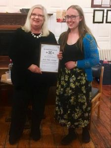 Trinity Lit Society Award 2016 with Ruth Atkins